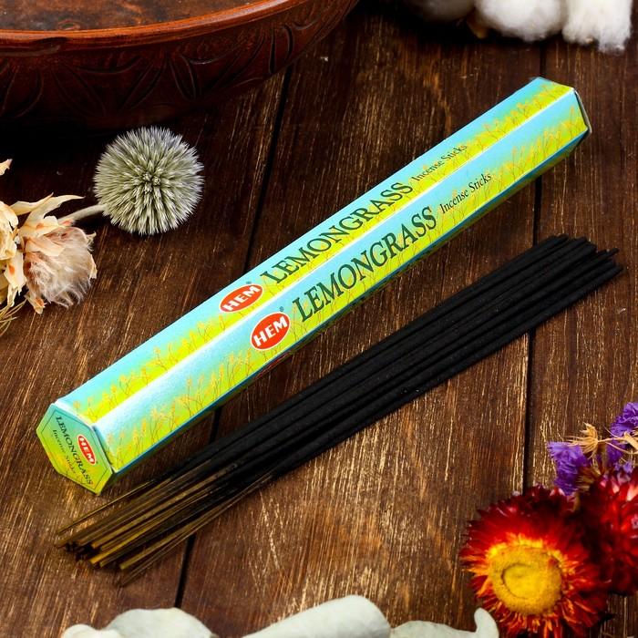 """Благовония """"HEM Lemongrass"""" (Лимонник), шестигранник, 20 палочек"""