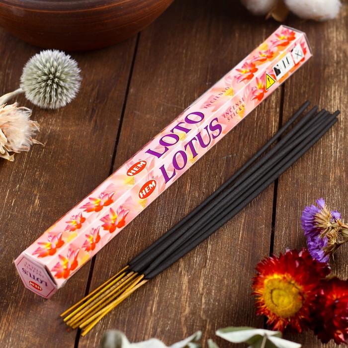 """Благовония """"HEM Lotus"""" (Лотос), шестигранник, 20 палочек"""