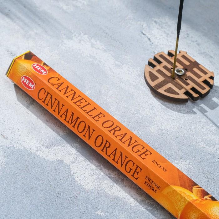 """Благовония """"HEM Cinnamon-Orange"""" (Корица-апельсин), шестигранник, 20 палочек"""