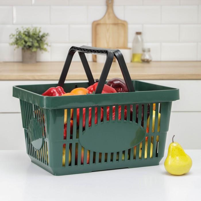 Корзина для покупок, 42,5×30×22,5 см, цвет МИКС