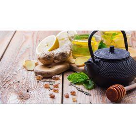 Чайник с ситом 300 мл 'Восточная ночь', цвет черный, с эмалированным покрытием внутри Ош