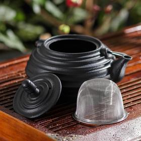 Чайник с ситом «Атьяф», 700 мл, цвет чёрный Ош