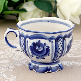 Чашка «Надежда», 12х10х8 см, гжель
