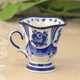 Чашка кофейная «Силуэт» 7,5х6х6 см гжель