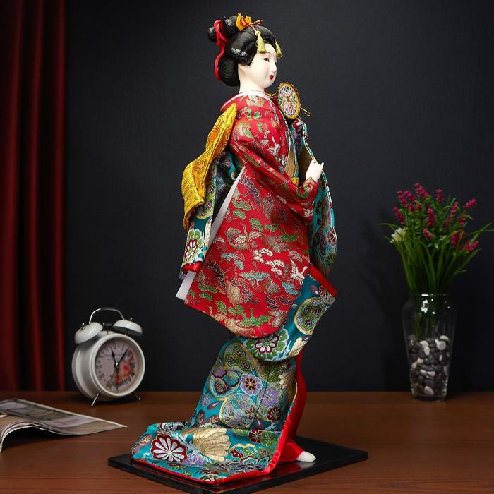 Vintage Shawnee Pottery Geisha Girl With Umbrella Planter Pair