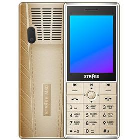 "Сотовый телефон STRIKE M30, 2.8"", 32Мб, 2sim, microSD, BT2.1, 2500мАч, золотистый"