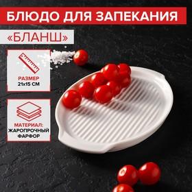 Блюдо для запекания овальное Magistro «Бланш», 21 см