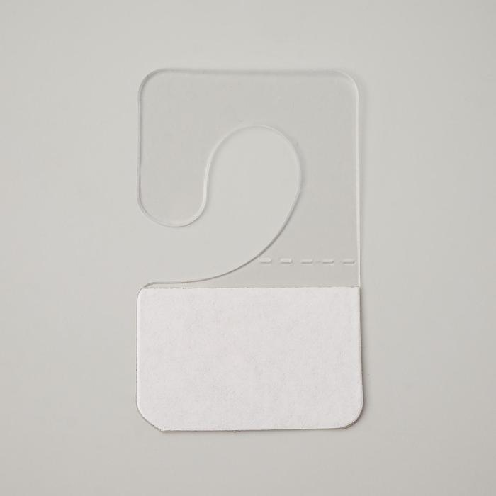 Крючок-вешалка самоклеящийся 2,54 см фас 100шт, цвет прозрачный