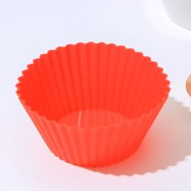 Форма для выпечки «Круг.Риб», 9×4,5 см, d дна=6 см, цвет МИКС