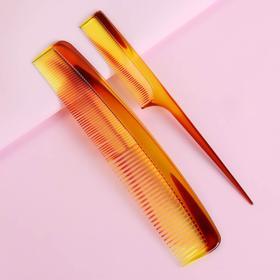 Набор расчёсок, 2 предмета, цвет «янтарный» Ош