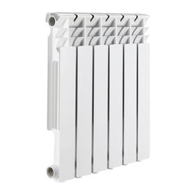 Радиатор алюминиевый ROMMER Optima 500, 500 x 78 мм, 6 секций