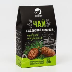 Травяной чай натуральный с кедровой шишкой, 80 г