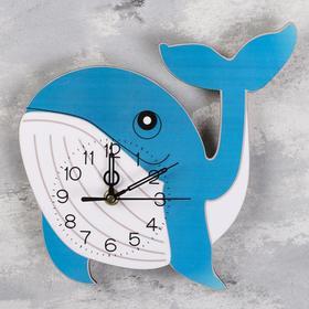 Часы настенные 'Синий Кит',  плавный ход, стрелки микс Ош