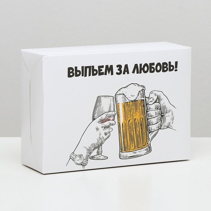 Коробка складная с приколами За любовь, 16 23 7,5 см