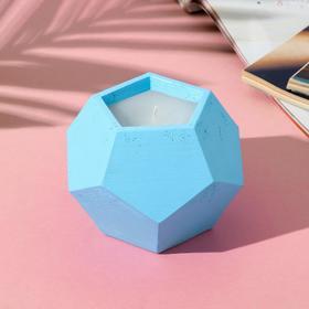 Свеча в подсвечнике (ручная работа) «Голубой», 12 х 8,5 см