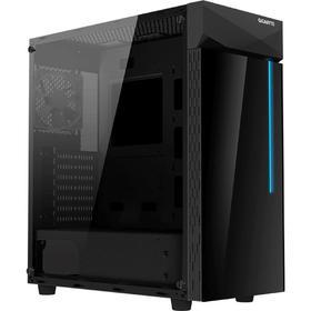 Корпус Gigabyte C200 GB-C200G, без БП, ATX, Midi-Tower, черный