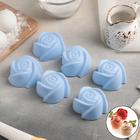 Набор форм для выпечки «Розочки», 7×4 см, 6 шт, цвет МИКС - Фото 1