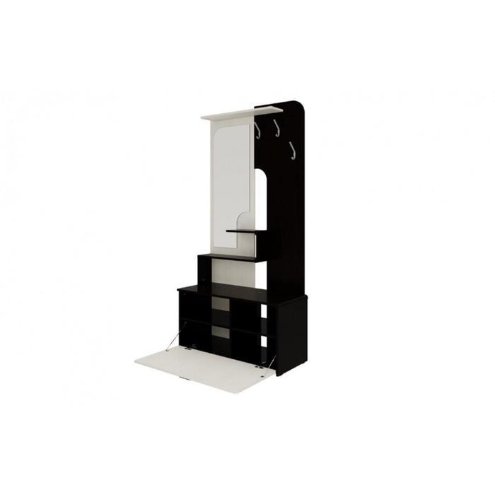 Вешалка «Вита», прихожая, 954 × 410 × 1920 мм, зеркало, цвет венге / дуб молочный