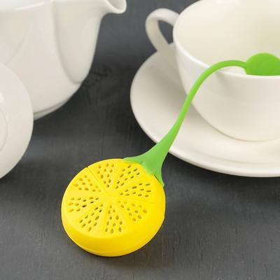 Ситечко для чая Доляна «Лимон», 10 см, цвет МИКС - Фото 1