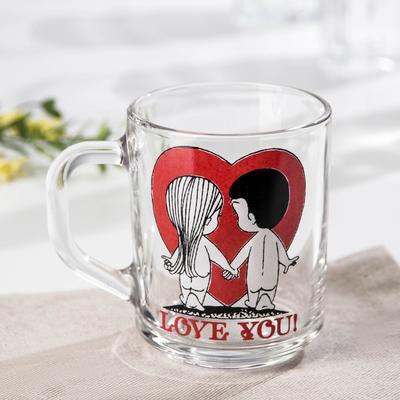 Кружка Love you, 200 мл, без упаковки, рисунок МИКС - Фото 1