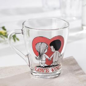 Кружка Love you, 250 мл, рисунок МИКС