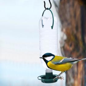 Кормушка для птиц «Бункер», 4,5 × 12,5 см, под бутылку, пластик