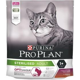 Сухой корм PRO PLAN для стерилизованных кошек, утка и печень, 400 г