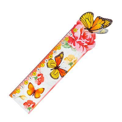 """Закладка-линейка """"Оранжевые бабочки"""""""