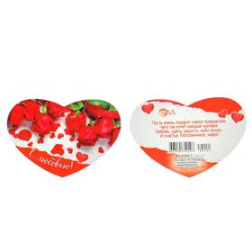 """Открытка-валентинка """"С любовью"""" глиттер, красные розы, лепестки"""