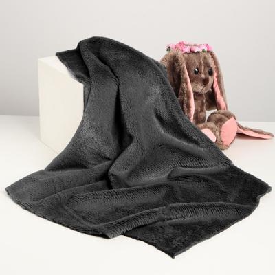 Лоскут для рукоделия, 50х50 см, мех, цвет тёмно-серый - Фото 1