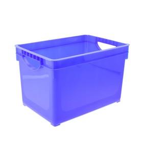 Ящик для хранения 19 л, 38,5×26,6×24,2 см, цвет МИКС