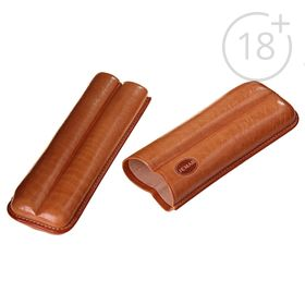 Портсигар светло-коричневый цвета для 2 сигар, d = 1,8 см