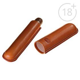 Портсигар светло-коричневого цвета для 1 сигары диаметром 2,1 см