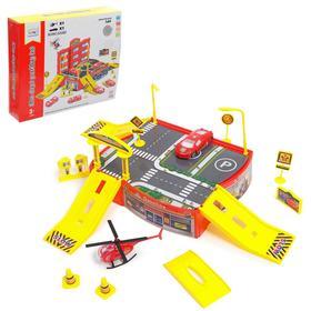 Парковка «Пожарная часть», с машиной и вертолётом Ош