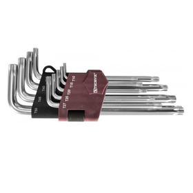 Набор ключей торцевых Thorvik 53150, TORX, с штифтом, Т10H-T50H, 9 предметов