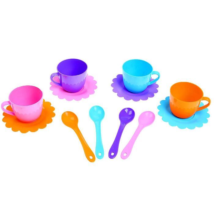"""Набор посуды """"Ромашка"""", на 4 персоны, цвета МИКС"""