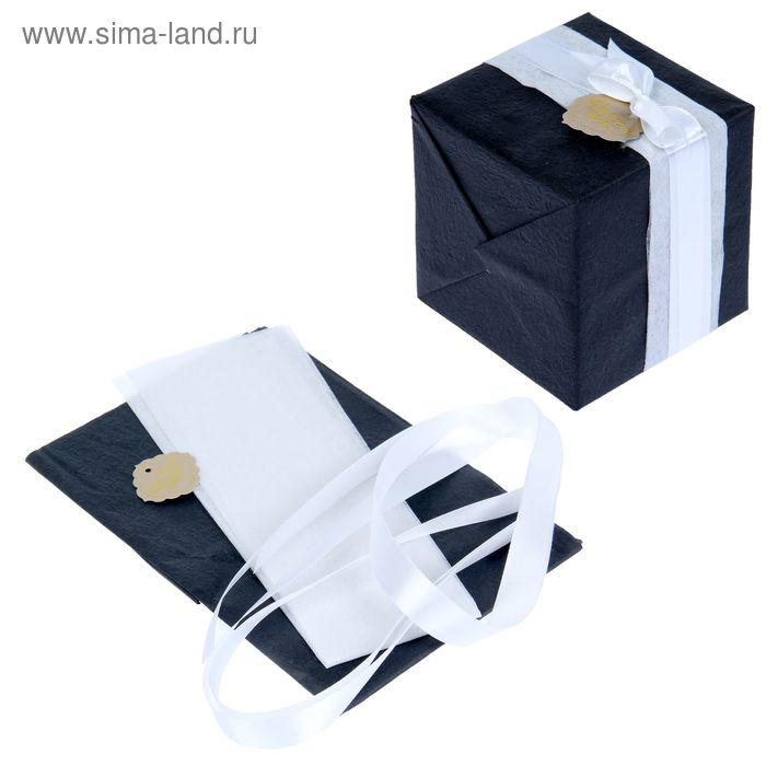 """Набор для упаковки подарка """"Классика"""" (бумага упаковочная+декор)"""