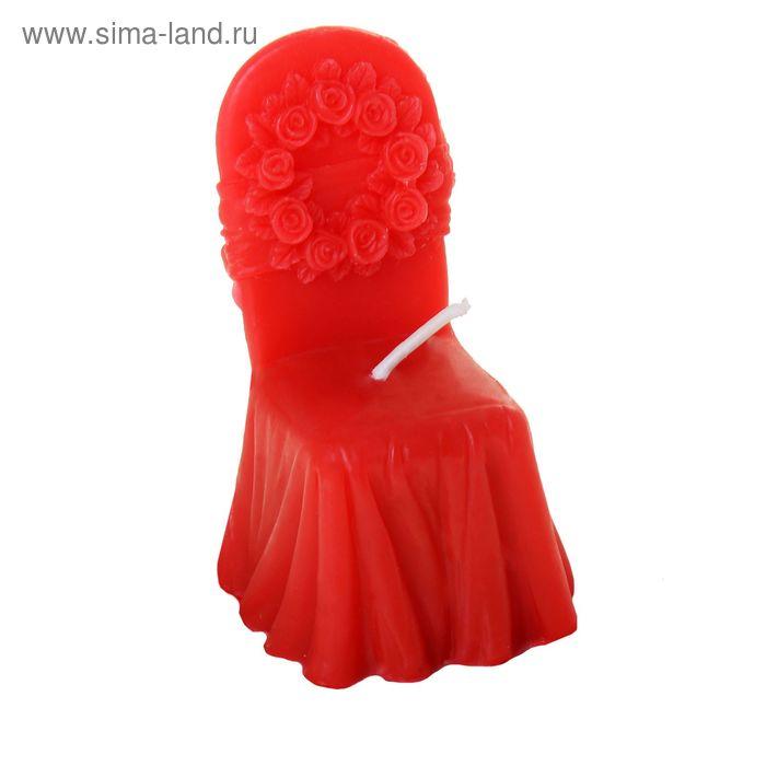 """Свеча восковая """"Праздничный стул"""", цвет красный"""