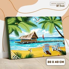 Картина по номерам на холсте с подрамником «Романтика острова», 40х30 см