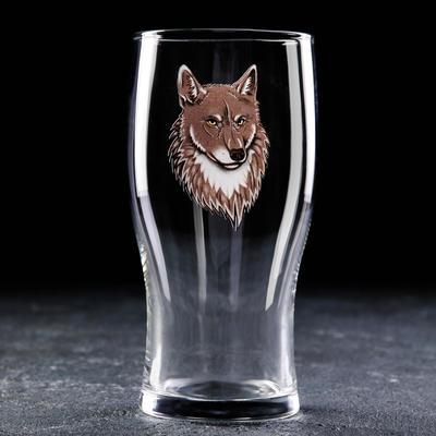 Бокал для пива Доляна «Волк», 570 мл - Фото 1