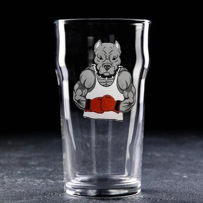 Бокал для пива Доляна «Собака», 570 мл - Фото 1