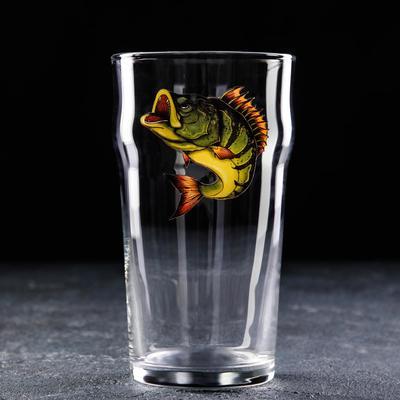 Бокал для пива Доляна «Рыба», 570 мл - Фото 1