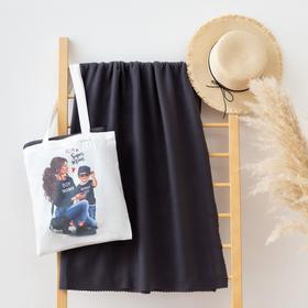 """Набор LoveLife """"Super mom"""": сумка-шопер 33*39 см + флисовый плед 150*130 см"""