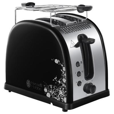 Тостер Russell Hobbs 21971-56, 1600 Вт, 6 режимов прожарки, 2 тоста, чёрный - Фото 1