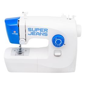 Швейная машина Comfort 115, 50 Вт, 19 операций, полуавтомат, бело-синяя