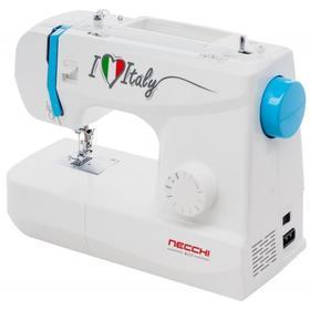 Швейная машина Necchi 4117, 70 Вт, 13 операций, полуавтомат, бело-голубая Ош