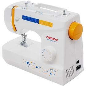 Швейная машина Necchi 4222, 70 Вт, 24 операций, полуавтомат, бело-оранжевая Ош
