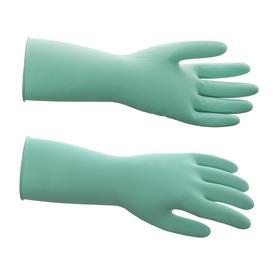Перчатки латексные многоразовые, M, зелёные