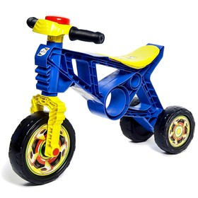Каталка-мотоцикл трехколёсный, цвет синий Ош