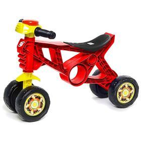 Каталка-мотоцикл четырехколесный, цвет красный Ош
